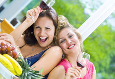 Two laughing girls Stock Photos