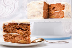 Two layer apple cake Stock Photography