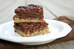 Two Layer Brownies Royalty Free Stock Photos