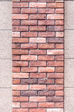 Two layer of small and big brick wall texture. Two layer of small and big brick wall texture, use as background Stock Photography