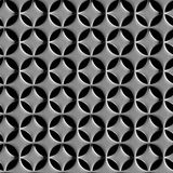 Two-layer steel grid with round holes seamless background Stock Images