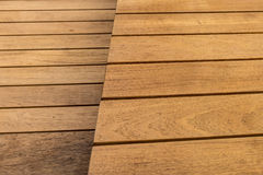 Two layer of wooden floor Stock Image