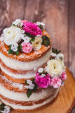 Two layered homemade cake Stock Photo