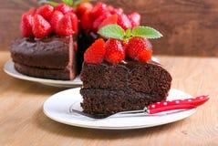 Two layers chocolate cake Stock Image
