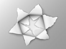 Two layers of punched steel plate. In the shape of a star Royalty Free Stock Photo