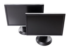 Two LCD high definition flat screen TV Royalty Free Stock Photos