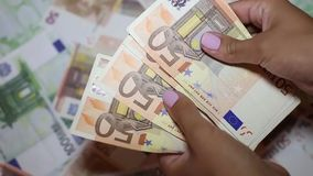 Two leading hard currencies - US Dollar and Euro stock video