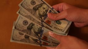 Two leading hard currencies - US Dollar and Euro stock video footage