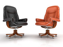Two leather armchairs Royalty Free Stock Photo