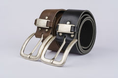 Two leather belt Royalty Free Stock Photography
