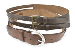 Two leather belts Stock Photo