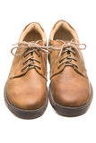 Two leather boots  on white Royalty Free Stock Image