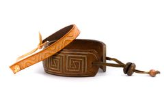Two leather bracelets Royalty Free Stock Image