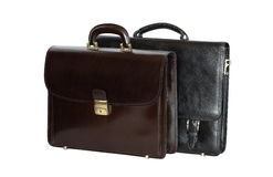 Two Leather Briefcases Stock Photos