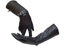 Two leather female gloves Royalty Free Stock Photos