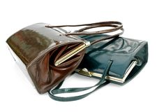 Two leather handbags Royalty Free Stock Image