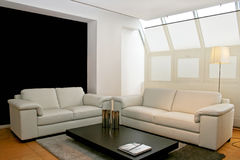 Two leather sofas Stock Photo