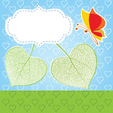 Two leaves in the form of heart, a love symbol Royalty Free Stock Photos