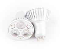 Two LED energy saving bulbs. Royalty Free Stock Image