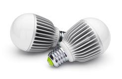 Two LED energy saving bulbs Stock Images