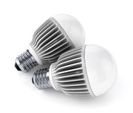 Two LED energy saving bulbs Royalty Free Stock Images