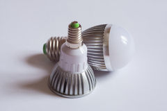 Two Led Lamps. The new generation of lamps. Economical and environmentally friendly Royalty Free Stock Photography