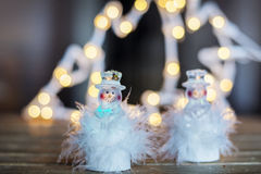 Two led snowflakes for Christmas  decoration Royalty Free Stock Photography