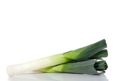 Two leeks Stock Image