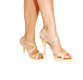 Two legs in heels. Royalty Free Stock Photography