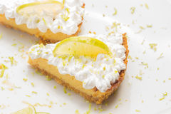 Two lemon pie slices Royalty Free Stock Image