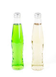 Two lemonade bottles on white Royalty Free Stock Photo