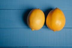 Two Lemons Stock Photo