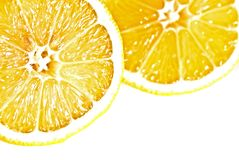 Two lemons cross section Stock Photography