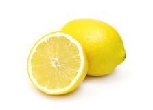 Two lemons isolated Stock Image