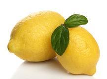 Two lemons isolated over white Stock Photography
