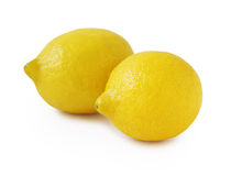 Two lemons isolated on white. Stock Images