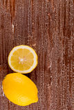 Two lemons on Royalty Free Stock Image