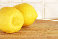 Two lemons from organic farming Royalty Free Stock Photos