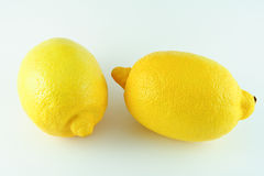 Two lemons on white background Stock Image
