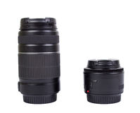 Two lenses for the camera, isolated royalty free stock photo
