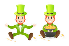 Two leprechauns Royalty Free Stock Image