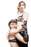 Two lesbian girl Royalty Free Stock Images