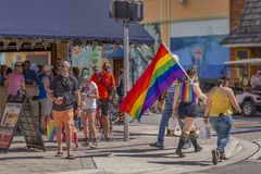 Lake Worth, Florida, USA March 31, 2019 Before, Palm Beach Pride Parade royalty free stock image