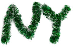 Two letters from a green tinsel Royalty Free Stock Images