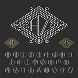 Two letters monogram template. Stock Photography