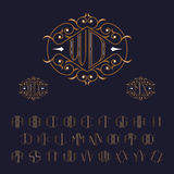 Two letters monogram template. Set of letters from A to Z. Stock Photo