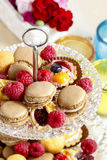 Two level dessert stand Royalty Free Stock Photography
