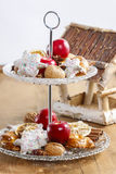 Two level dessert stand Royalty Free Stock Image