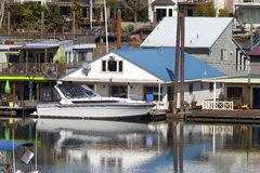 Two level floating house, Portland OR. Royalty Free Stock Photography