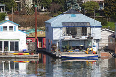Two level floating house, Portland OR. Stock Photo